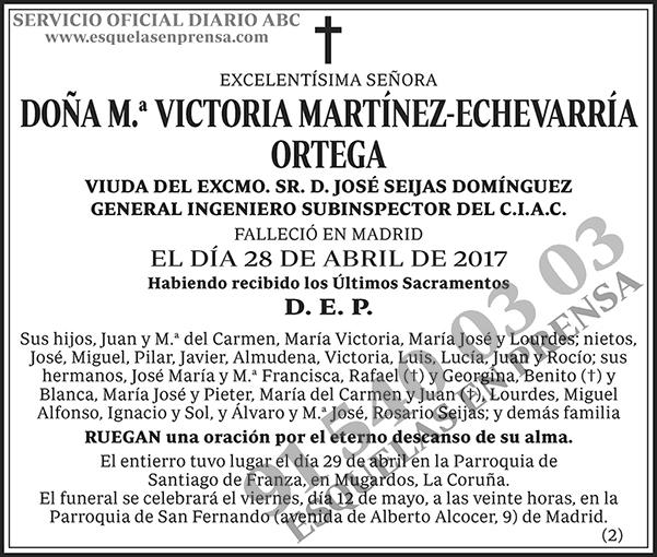 M.ª Victoria Martínez-Echevarría Ortega